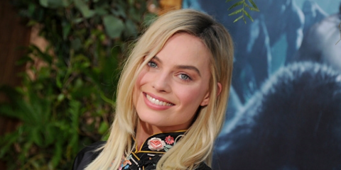 Margot Robbie's hair at the Tarzan Premier