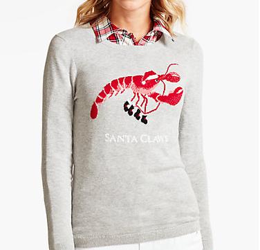 "Kelly Ripa's ""Santa Claws"" Talbots Sweater"