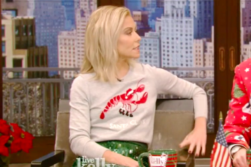 "Kelly Ripa's ""Santa Claws"" Talbots Sweater"