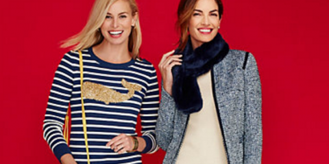 Talbots Whale Stripe Tinsel Nautical Sweater