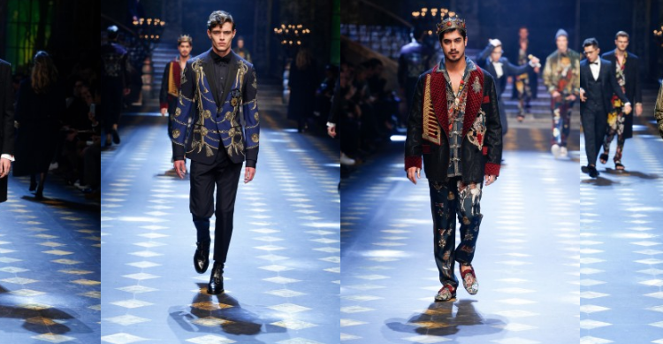 Redken Men's FW2017 Dolce & Gabbana recap, hair by Guido