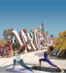 Hot Yoga at the Neon Museum in Vegas